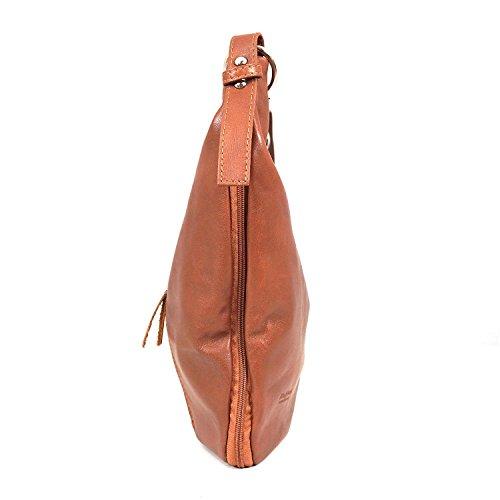 Taschenzauber® HERZENSPRUNG, Borsa a tracolla donna marrone cognac