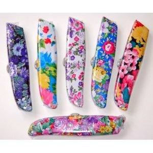 1 Ladies Flower Floral Box Cutter Utility Knife Razor Blade