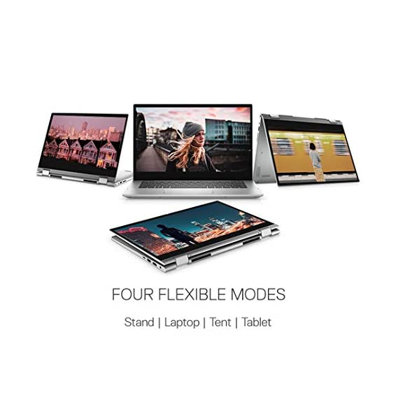 """Dell Inspiron 5406 11th Gen 14"""" (35.56cms) FHD 2in1 Laptop( i3-1115G4 / 4GB / 256 SSD /Integrated Graphics/ Win 10/MS Office 19/ Active Pen/Platinum Silver),D560365WIN9S"""