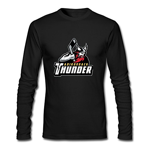 Hockey 2015 Adirondack Thunder Logo Tshirts Black For Man (Thunder T-shirt Motorcycle)