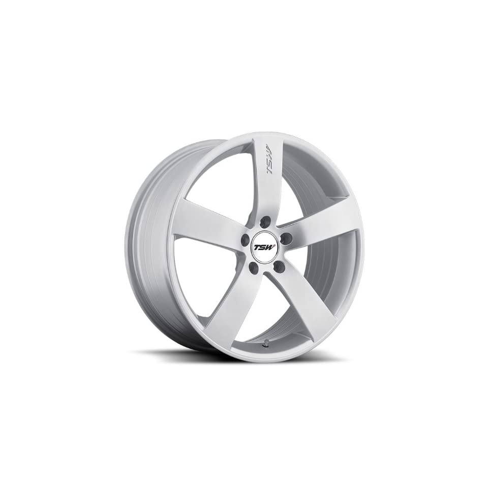 18x8 TSW Spa (Hyper Silver) Wheels/Rims 5x110 (1880SPA405110S72) Automotive