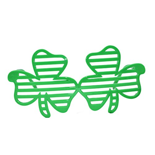 OULII St Patrick's Day Shamrock Eyeglass Sunglasses St.Patrick's Day Costume Party Accessory for Festival Holiday Party Decoration