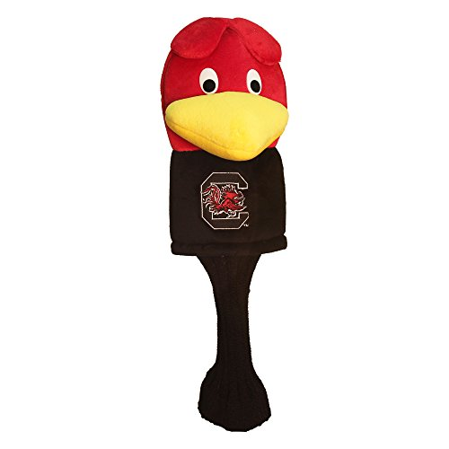 Team Golf NCAA South Carolina Gamecocks Mascot Golf Club Headcover, Fits most Oversized Drivers, Extra Long Sock for Shaft Protection, Officially Licensed Product Carolina College Mascot Headcover