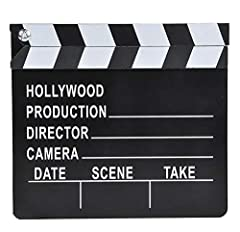 Ready-Set-Action! Roll the Cameras! The Hollywood style clapper board is the ultimate prop for clowns, magicians and MC's. Use this clapper board with your helper or the birthday child. This is the perfect prop for the parents taking pictures...