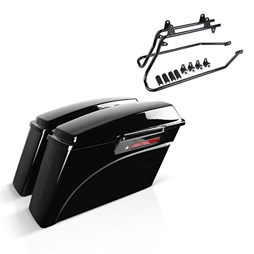 Shiwaki Motorcycle Saddle Bags PU Leather Tool Luggage Case Swing Arm Bags w//Water Bottle Holder for Harley Sportster XL 883 1200