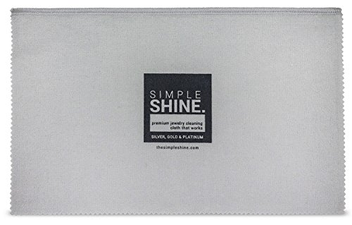 Large Oversized Premium Jewelry Cleaning Cloth | Jewelry Polishing Cloth Cleaner Gold, Silver, Platinum by Simple Shine (Image #3)