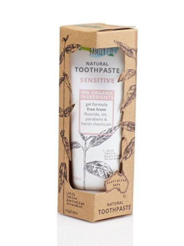 - THE NATURAL FAMILY & Co - Sensitive Toothpaste - Original Formula - With Native Australian Rivermint and Potassium Nitrate to alleviate sensitive gums and teeth - Organic Ingredients - Vegan - 110 gr
