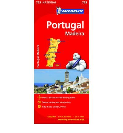Portugal & Madeira (Michelin National Maps) (