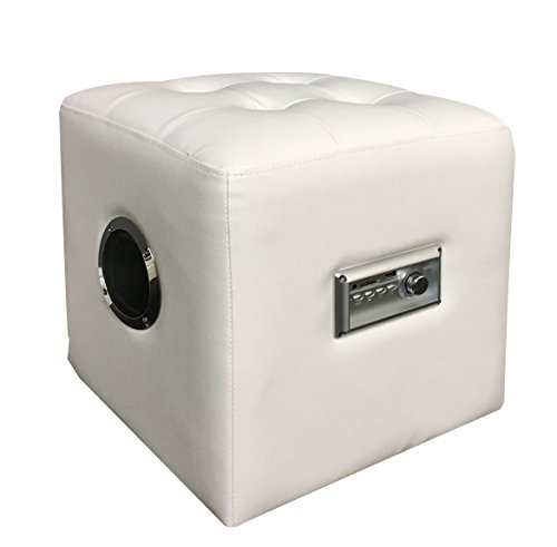 Major-Q Modern White Bluetooth Speaker Sound Lounge Ottoman (7096524)