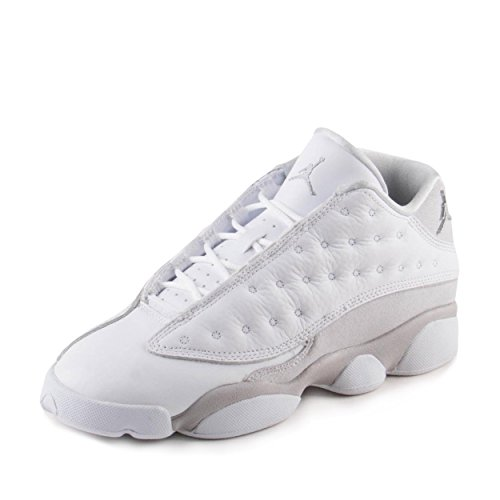 Jordan Retro 13 Low ''Pure Platinum'' White/Metallic Silver (Big Kid) (5.5 M US Big Kid) by Jordan