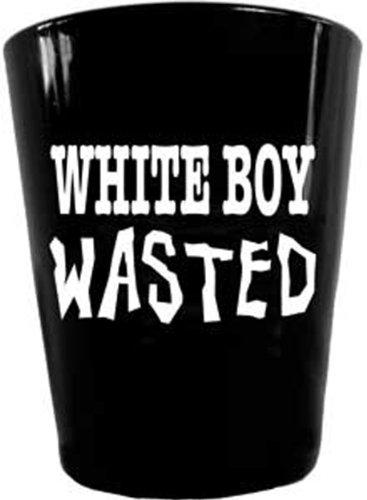 Shot Glasses G-0199 'DSX White Boy Wasted' Shot Glass, Black