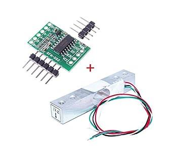 aihasd Digital Sensor de Célula de carga Peso 1 kg portátil escala de cocina electrónica + HX711 Módulo de pesaje sensores ad para Arduino: Amazon.es: ...