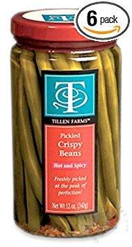Tillen Farms Pickled Spicy Bean, 12-Ounce Bottles (Pack of 6)