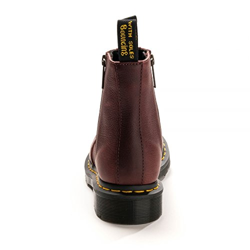 Dr. Martens Women's 2976 W/Zips Chelsea Boots, Blank Cherry Red