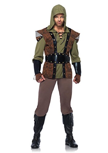 Female Robin Hood Costumes (Leg Avenue Men's 5 Piece Robin Hood Costume, Brown, X-Large)