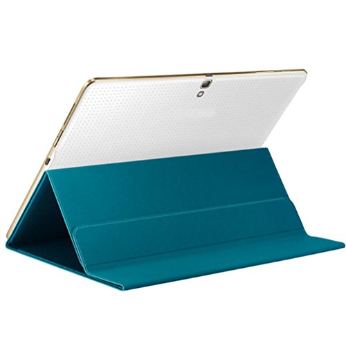 Iusun Thinnest and Lightest Book Cover Case Stand For Samsung Galaxy Tab S 10.5 Inch SM-T800/T805 (Blue) by Iusun
