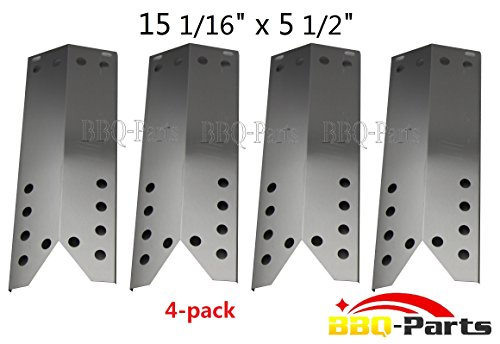 Hongso SPF781 (4-pack) Stainless Steel Heat Plate Replacement for Specific Grill Models Kenmore, Nexgrill, Uberhaus and Grill Master (Dimensions: 15 1/16' X 5 1/2')