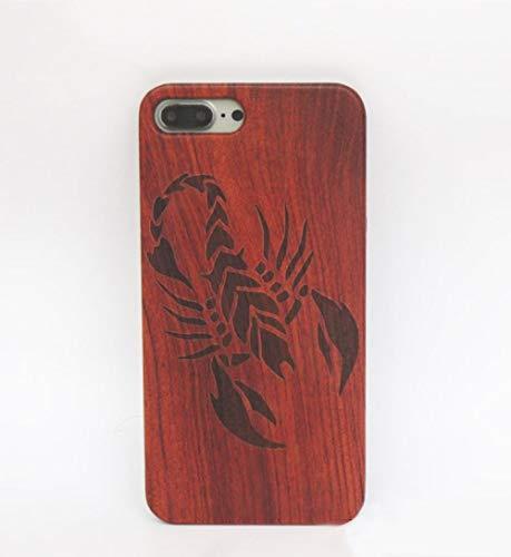 iPhone 6/6S Case, Cool Boy Men Wood Solid Wood Radium Sculpture Scorpion Case Sleeve Cover Suit for iPhone (Scorpion, iPhone 6/6S)
