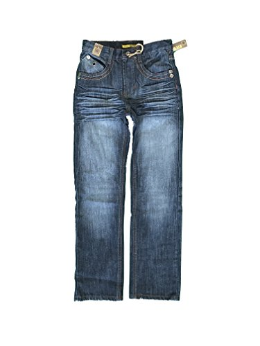 Chams Boy's Straight Fit Mercerized Baked Denim Jeans Size:10