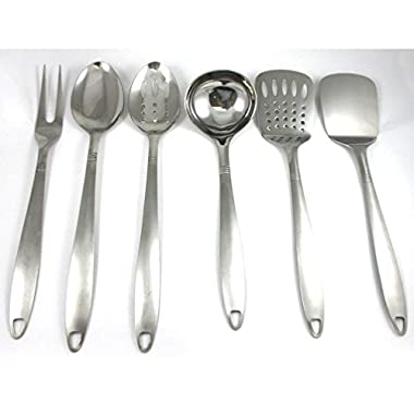Gomangos 6 Stainless Steel Kitchen Cooking Utensil Set Serving Tools Server Spatula Spoon
