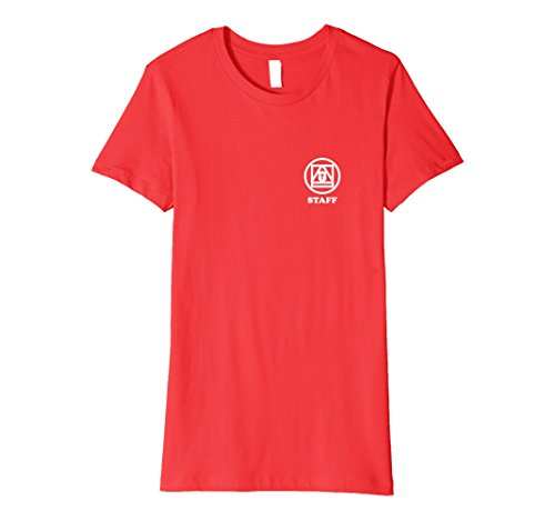 Womens Simple Staff Shirt Large Red