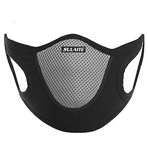 SULAITE Outdoor Sports Riding Running Masks Dustproof Anti-Fog Anti-Sand Breathable Comfortable Velvet Mask Heath Care
