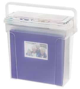 IRIS Portable Scrapbook File Box, Clear