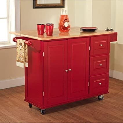 Amazon.com: Sundance Kitchen Cart, Multiple Colors Red ...