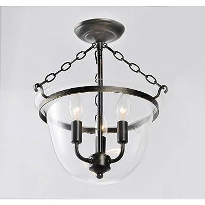 Jojospring Antique Copper Lantern Flushmount Chandelier