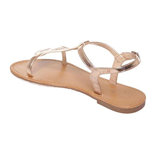 La Modeuse - Sandalias de vestir para mujer Doré rose