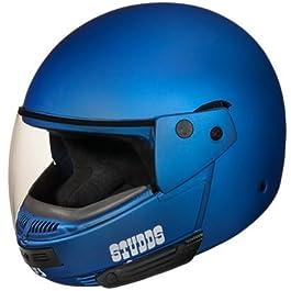 Studds Full Face Helmet Ninja Pastel (Plain Matt Blue, L)