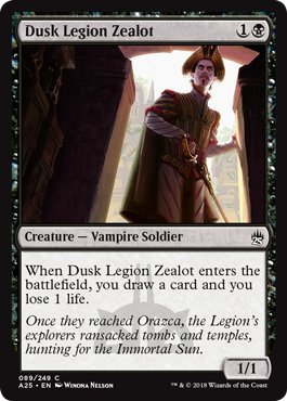 (Dusk Legion Zealot - Foil - Masters 25)