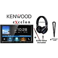 Kenwood eXcelon DDX795 6.95 WVGA DVD Receiver w/Bluetooth & HD Radio and Kenwood KH-KR900 On Ear Phones and a SOTS Lanyard