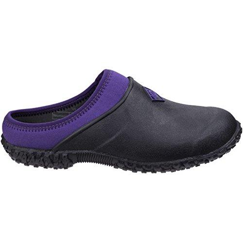 Muck Boot Womens/Ladies Muckster II Gardening Clogs (7 US, Black/Purple) ()