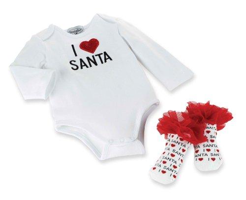 Mud Pie Baby Girls Newborn Santa