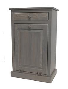 Amazon wooden tilt out trash bin home kitchen - Amazon Com Pine Tilt Out Trash Bin Pewter Home Amp Kitchen
