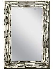 جدار من العقيق المقصب من هيد ويست، مرآة 59.69 سم × 89.97 سم