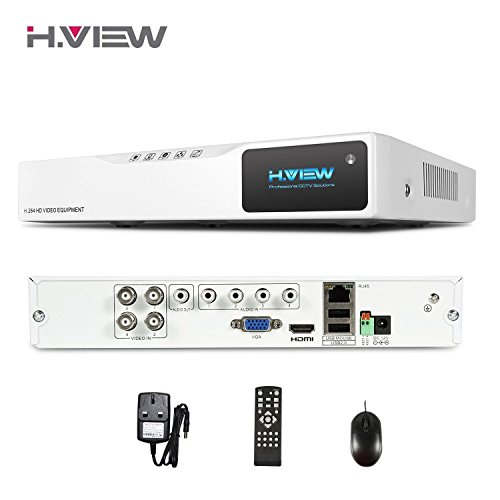 H.View 4CH Hybrid DVR CCTV DVR Recorder 4 Channels H.264 Full 1080N Digital...
