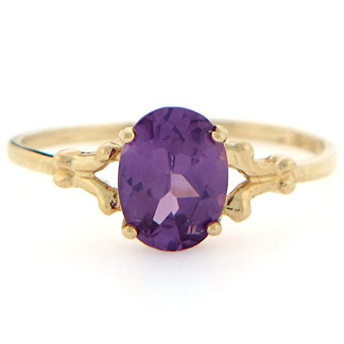 10k Gold Synthetic Alexandrite June Birthstone Ring