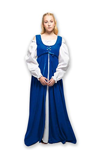 2 Piece Renaissance Medieval Gown with White Chemise