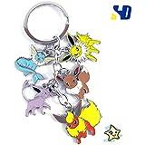 Amazon.com: Juego de 4 llaveros Eevee Evolutions Pokemon ...