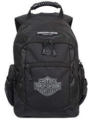Harley-Davidson Mens Classic Bar & Sheild Backpack, Black BP1932S-BLACK