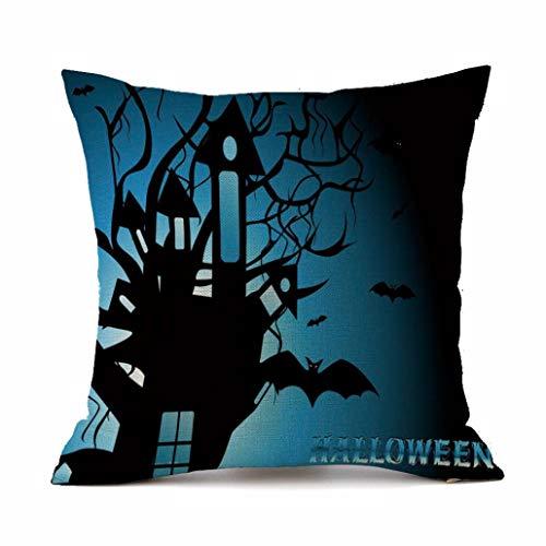 Gallity Halloween Pillowcase 43cm X 43cm Halloween Sofa Bed Home Decoration Festival Pillow Case Cushion Cover (BB) ()