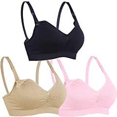 72ba694c68 ILoveSIA 3PACK Womens Seamless Nursing Bra Bralette - Fashion ...