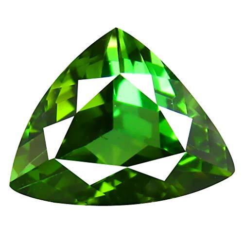 2.03 ct AAA Grade Trillion Shape (9 x 7 mm) Mozambique Green Tourmaline Genuine Loose ()