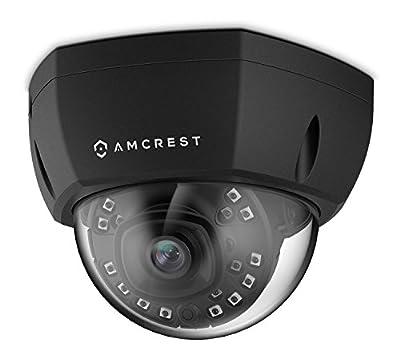 Amcrest ProHD Outdoor 1080P PoE Vandal Dome IP Security Camera - IP67 Weatherproof, 2MP (1920 TVL), IP2M-851EB (Black) by Amcrest