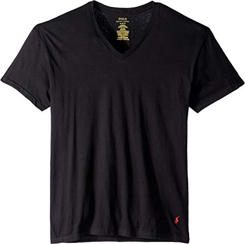 Polo Ralph Lauren Classic Fit Cotton T-Shirts 3-Pack, XL, Black
