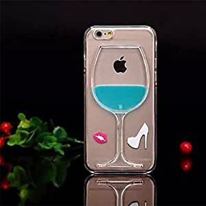 DD iPhone 6 compatible Transparent/Special Red Wine Goblet Design Back Cover(Assorted Color) , Green