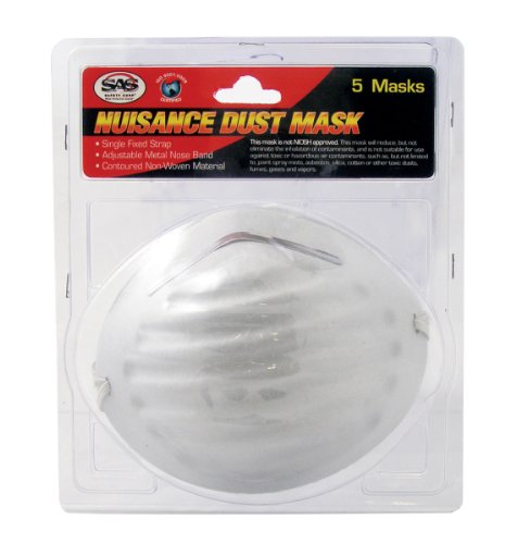 SAS Safety 2986 Nuisance Dust Mask, 5-Pack