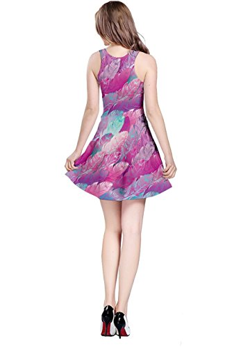 Womens Dream Pink Sleeveless CowCow Peacock Feather 5XL XS Violet Bird Catcher Dress Feather qI1HPd1xw